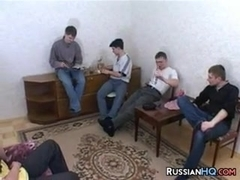 Mature Russian In A Gang Bang