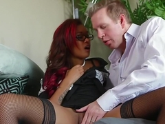 Exotic pornstar Ash Hollywood in crazy interracial, tattoos porn scene