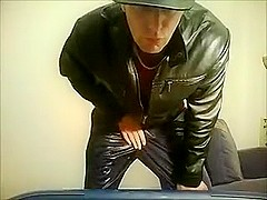 Adidas Chile Trackies, Leather Jacket, Chav Stroke and Cum