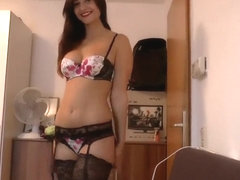 Sexy MILF rides a big cock in a hot lingerie outfit