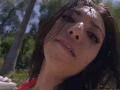 Cute Frida Sante with super hot body gets banged outdoor
