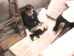 Tall Jap slobbers on a dong in spy cam Japanese sex video