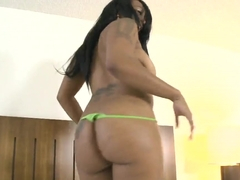 Ebony Elianie Jordawn fucking and sucking hotel worker guy's dick