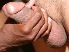 Ebony hottie Monique enjoys that white popsicle