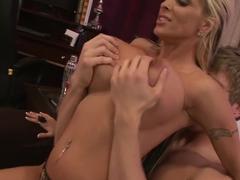 Hottest pornstar Holly Halston in incredible big tits, tattoos sex video