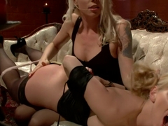 Hottest blonde, fetish xxx scene with amazing pornstars Ashley Fires and Lorelei Lee from Whippeda.