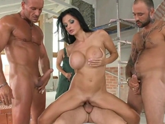 Aletta Ocean gets her steamy holes sandwiched just the way she wanted it