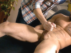 Massaging Zack on Maskurbate