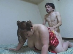 Fat Japanese whore enjoys hardcore banging