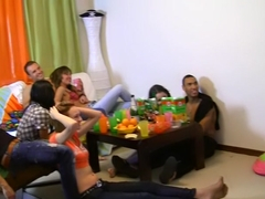 July & Lerok & Nene & Norma in skinny young porn chicks suck and fuck