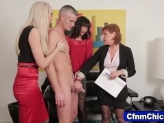 Cfnm fetish mistresses eat cock