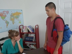 Confessing to his teacher that he's never had sex