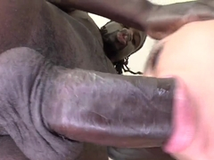 Hot chick Adrianna wants to suck on some black dong