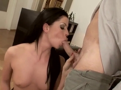 Secretary Larissa Dee fucks with her horny boss