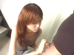 Hottest Japanese girl Akira Shiratori in Exotic Handjob, Couple JAV clip
