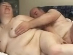 Ugly plump wife fucks with husband