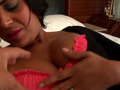 Slutty Ana Luz poses and shows off her dick sucking skills