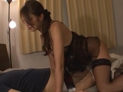 Kaede Niiyama  mature horny hottie gets pussy work out