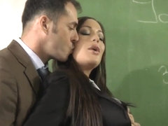 Angelica would like to please a well hung teacher