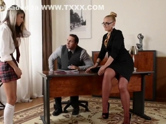 Hottest pornstars Emma Leigh and Anissa Kate in exotic threesome, anal xxx video