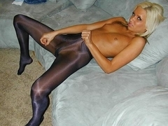 Pantyhose teasing and Jackoff Instruction