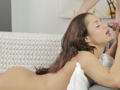 HD art porn with Kristall Rush getting fucked by 2 guys