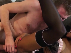 Danny D tries to satisfy so hot and hungry babe as ardent Ebony Kiki Minaj