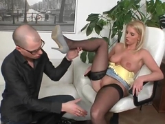Hot blonde Ewe Sweet gets a big dick from Mark
