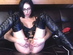 Livecam Bootslave Cleans My Boots And Eats His Cum - KinkyFrenchies