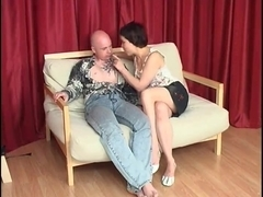 Slutty Russian MILF takes it up her tail end