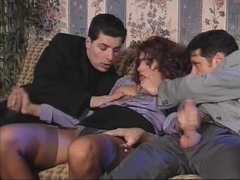 Italien Three-Some double penetration 90s
