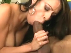 Stacked cougar Layla Rider seduces her black mechanic and fucks his huge cock