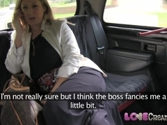 Love Creampie: Busty and naughty British mom lets taxi driver cum inside