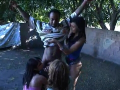Ashli Orion, Chelsie Rae and Heather Hurley get wet