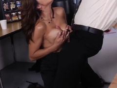Tired of small dicks Francesca Le gets really huge present by Bill Bailey in the office