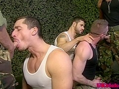 Military english studs group sucking