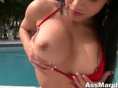 Sultry Abella Anderson Sucking Cock