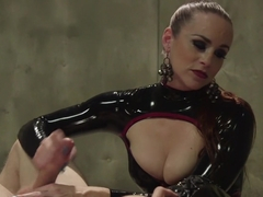 Bella Breaks in a New Toy at the Divine Bitches Milking Facility!