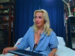 Busty Russian MILF plays with her sex toy