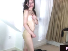 Young trans beauty Mary Jane self pleasuring