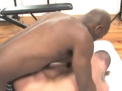 White sissy boy acquires black cock in his ass pussy