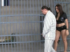 Eloa Lombard is having sex with prisoned dude