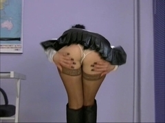 Trinity-Productions: Leather Boots Secretary