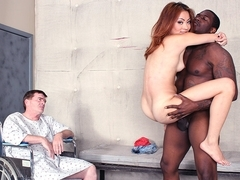Kim Blossom in Sissy Cuckold Watches Kim Blossom Fuck A Huge Black Cock