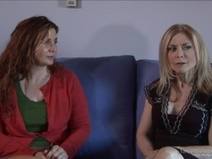 Blonde lesbian and her horny gf act like true sluts