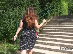 European amateur bbw fucking in public