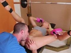 Delicious sexy blonde Erica Fontes training hard