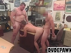 Stud sucks dick while a bear licks his ass before anal
