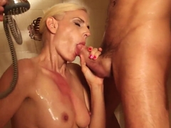 Displeased milf wants to fuck this guy like a little boy