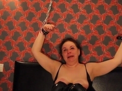 Ugly Arab Russian Slut Chained up Face Fucked CIM BDSM